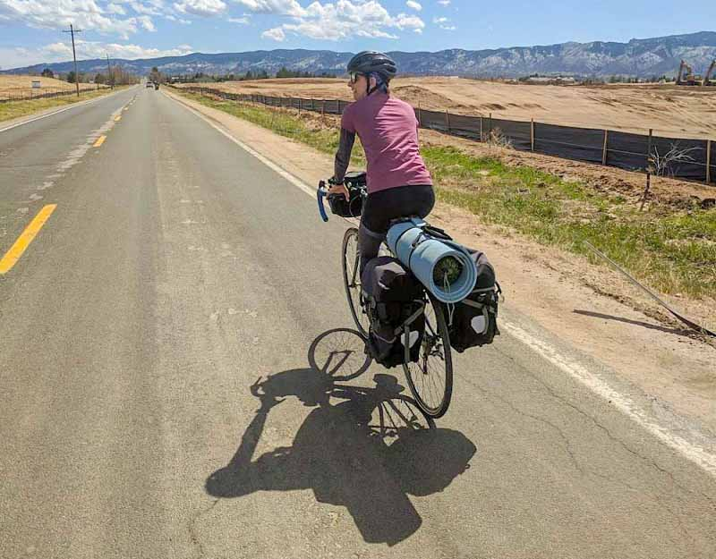 solo female bike tour