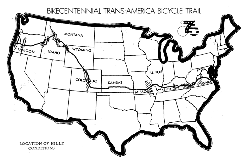 transamerica bicycle trail bickcentennial history