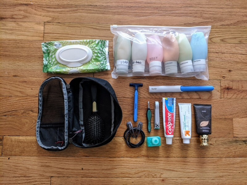 Gear list - toiletries