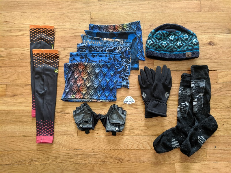 bike tour packing list - accessories