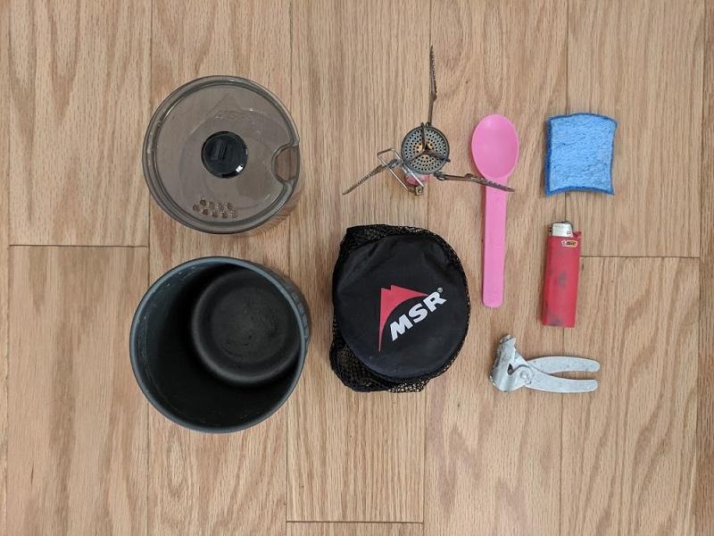 gear list cooking