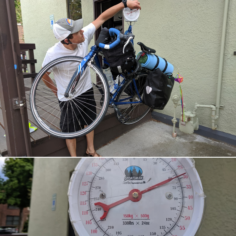 touring bike weight