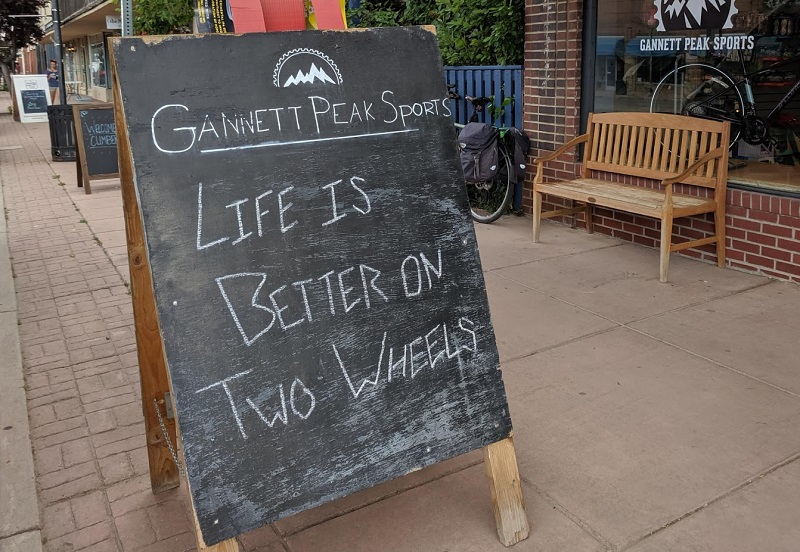 life is better on two wheels sign